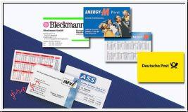 Taschenkalender/Visitenkarte im Scheckkartenformat (beidseitig foliert)