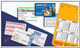 Taschenkalender/Vistenkarte im Scheckkartenformat (Ecken rund + foliert)
